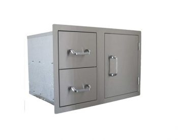 Dual Drawer and Single Door Combo