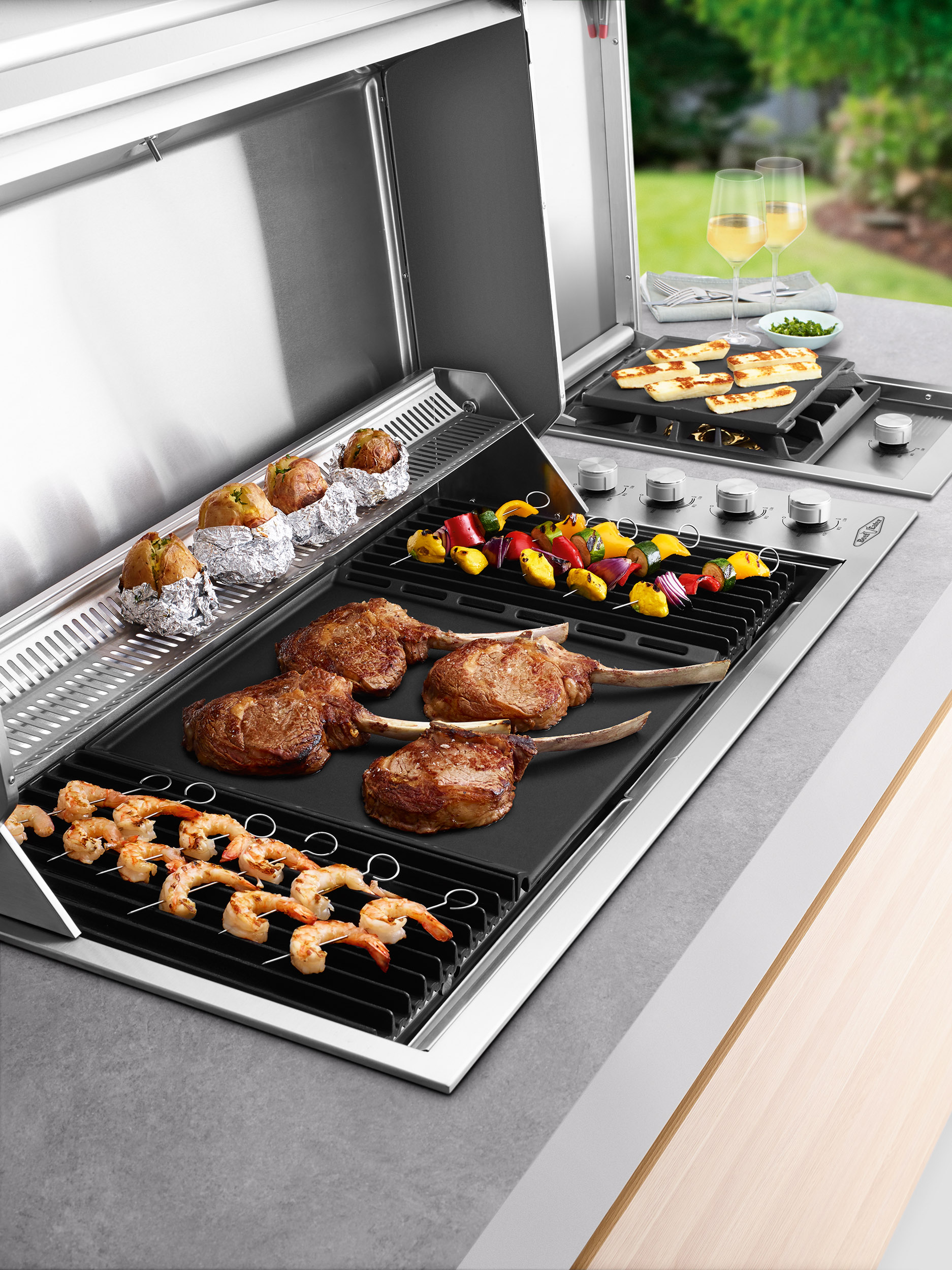 Beefeater Signature Proline 6 Burner Hooded Built In Bbq